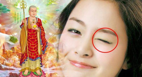 Nháy mắt trái nữ có điềm gì không?